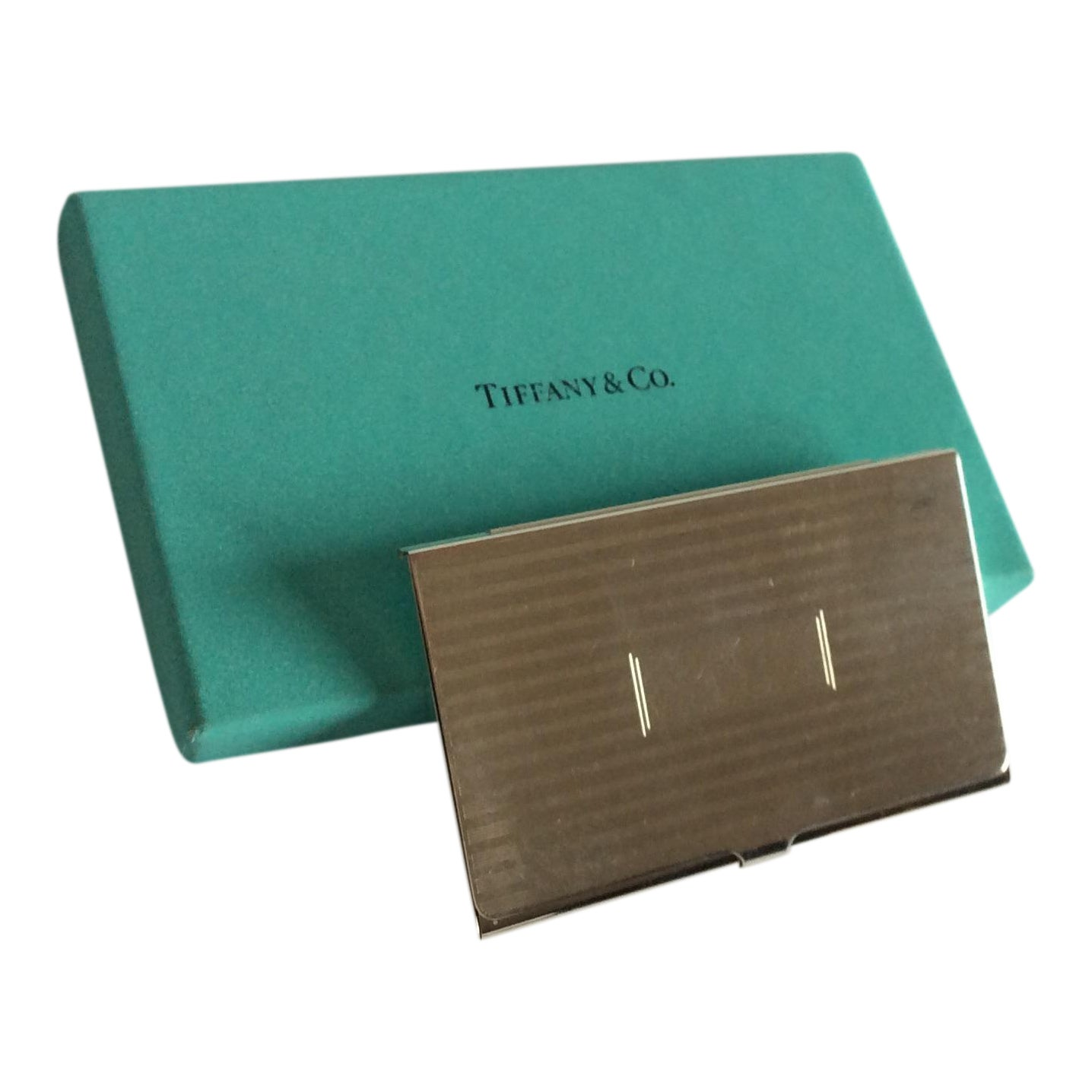 Tiffany Sterling Silver Business Card Case | Chairish