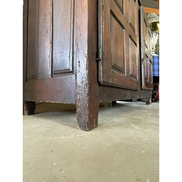 Antique Rustic French Country Louis XIV Hardwood Two Door Storage Cupboard For Sale - Image 11 of 13