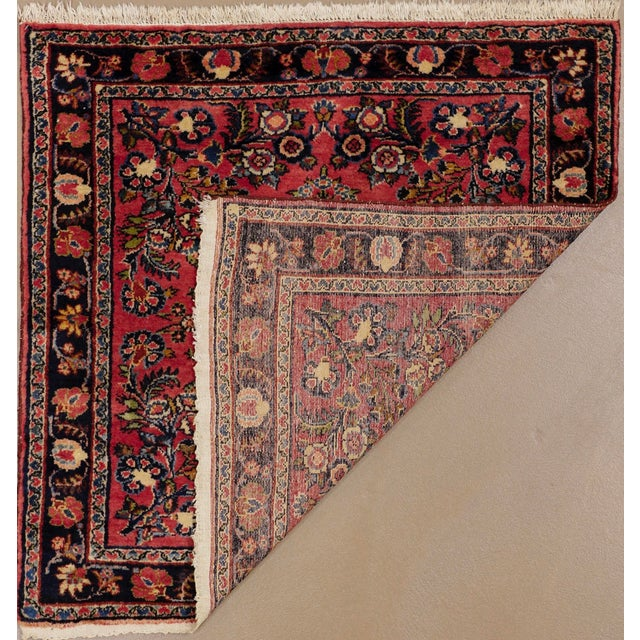 """1920s Vintage Persian Hamadan Square Rug, 3'3"""" X 3'5"""" For Sale - Image 4 of 6"""