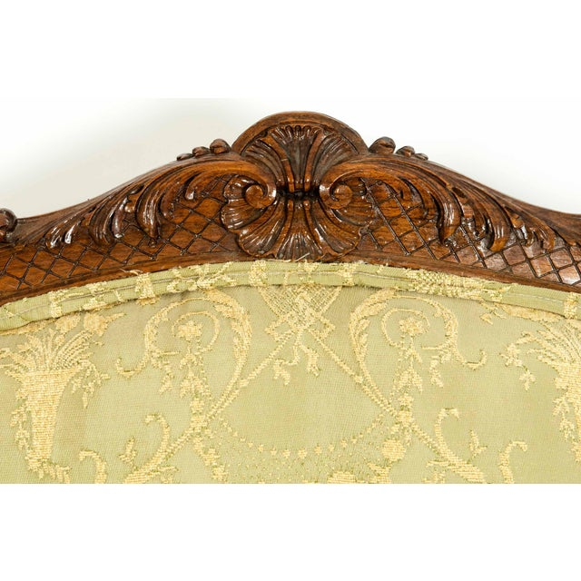 Mid-19th Century Mahogany Wood Frame Salon Suite - 3 Pc. Set For Sale - Image 4 of 13