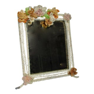French Beaded Mirror Frame For Sale