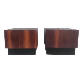 Pair Mid-Century Modern Cube End Tables For Sale