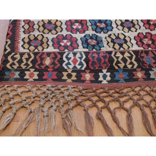 """Mid 19th Century Antique Erzurum """"Flowers"""" Kilim For Sale - Image 5 of 8"""