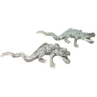 Bronze Sculptures of Alligators For Sale