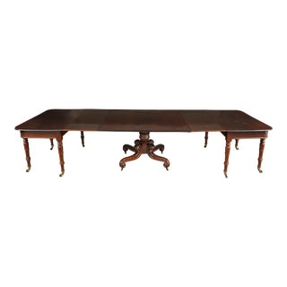 19th Century English Mahogany Extending Dining Table - 3 Pieces For Sale