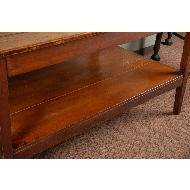 Large 19th Century French Pine Drapers Table With Original Finish For Sale In Detroit - Image 6 of 13