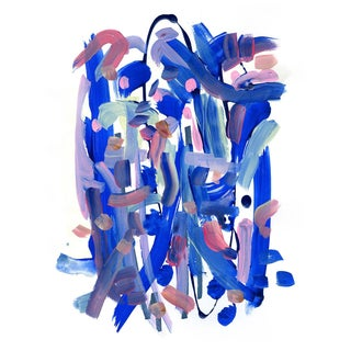 Blue Abstract Jessalin Beutler Limited Edition Print For Sale