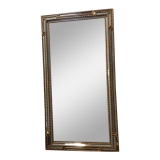 Vintage Carved Gilt Wood, Frosted Glass Mirror For Sale