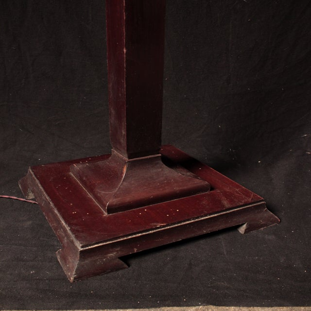 Antique english mahogany floor lamp chairish for Antique mahogany floor lamp