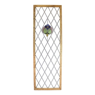 Antique Tudor Stained Glass Window For Sale