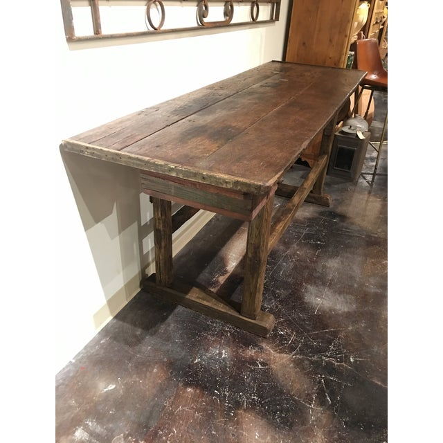 20th Century French Country Work Table For Sale - Image 10 of 14