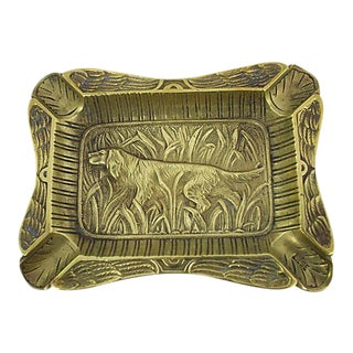 Antique French Hound Ashtray For Sale