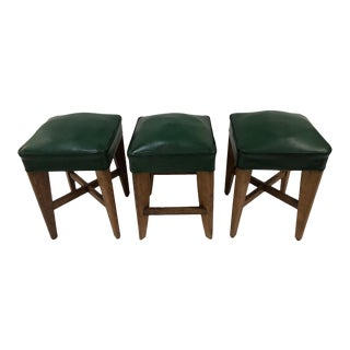 1940s French Oak Stools For Sale