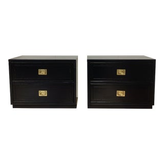 1950s Campaign Style Refinished Nightstands-a Pair For Sale