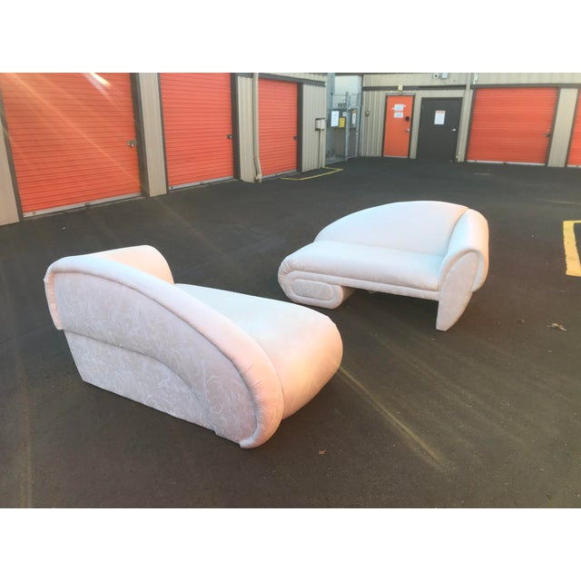 1990s Sculptural Cloud Chaise Lounge Sofas by Marge Carson -A Pair For Sale - Image 5 of 12