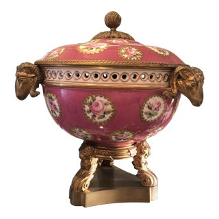 Late-19th Century Antique Louis XVI Style Mounted Potpourri Bowl For Sale