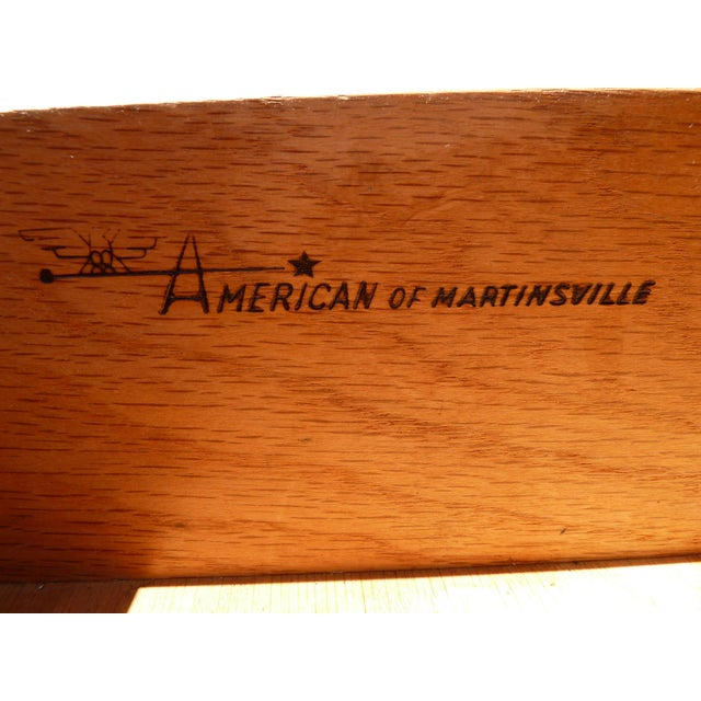American of Martinsville Walnut Nightstands For Sale - Image 5 of 5