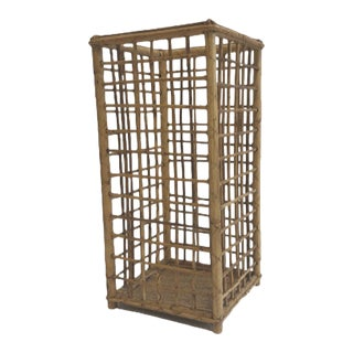 1970s Vintage Mid-Century Rattan Basket/Umbrella Stand For Sale