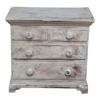 Antique Distressed Painted Commode For Sale