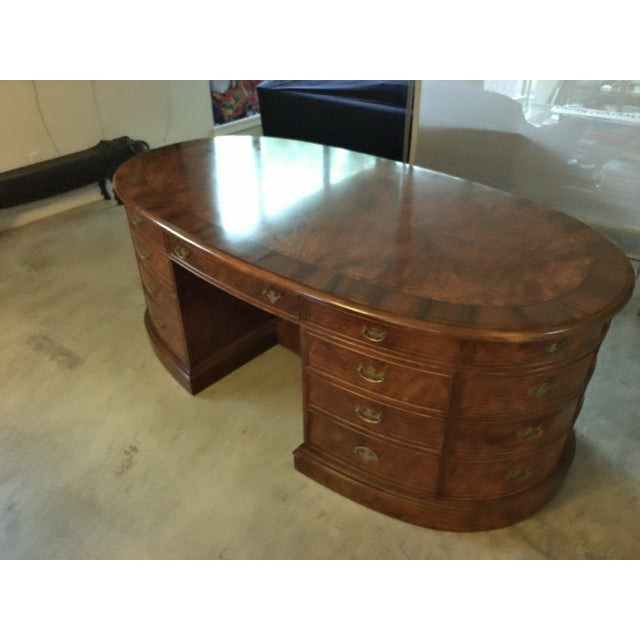 French Provincial Presidential Double Sided Desk - Image 3 of 11