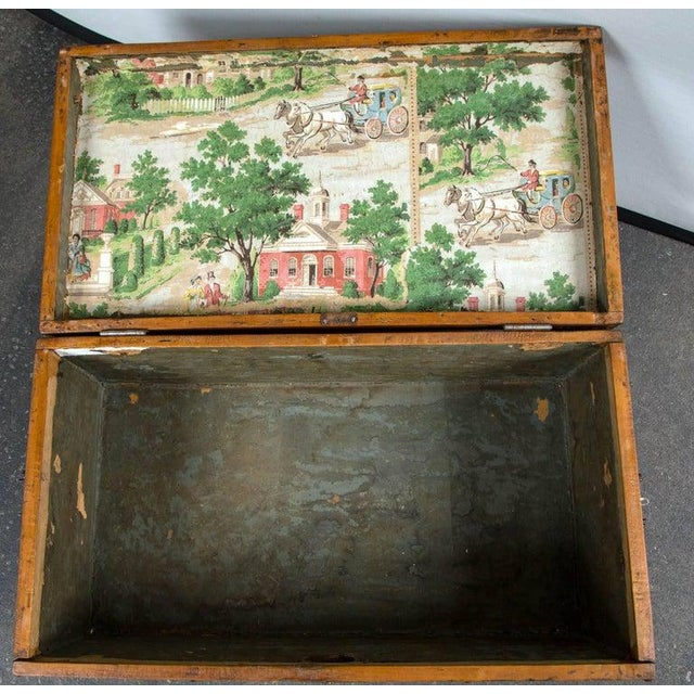 Late 19th Century 19th Century Tack Decorated Trunk For Sale - Image 5 of 8