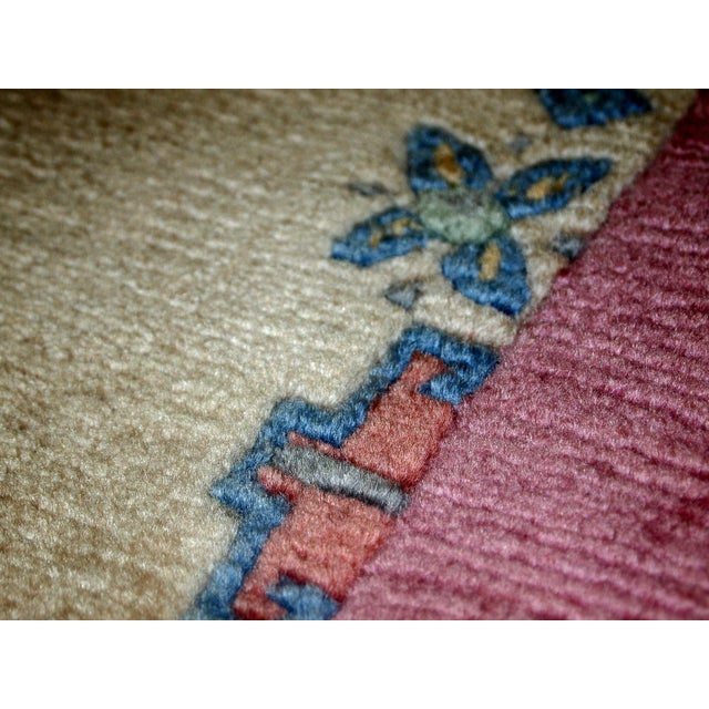 1970s, Handmade Vintage Tibetan Khaden Rug 2.4' X 4.5' For Sale In New York - Image 6 of 11