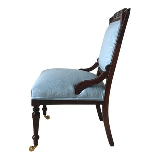 Newly Upholstered Victorian Side Chair