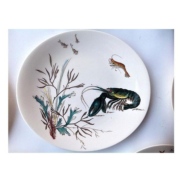Lodge English Fish Plates - Set of 8 For Sale - Image 3 of 5
