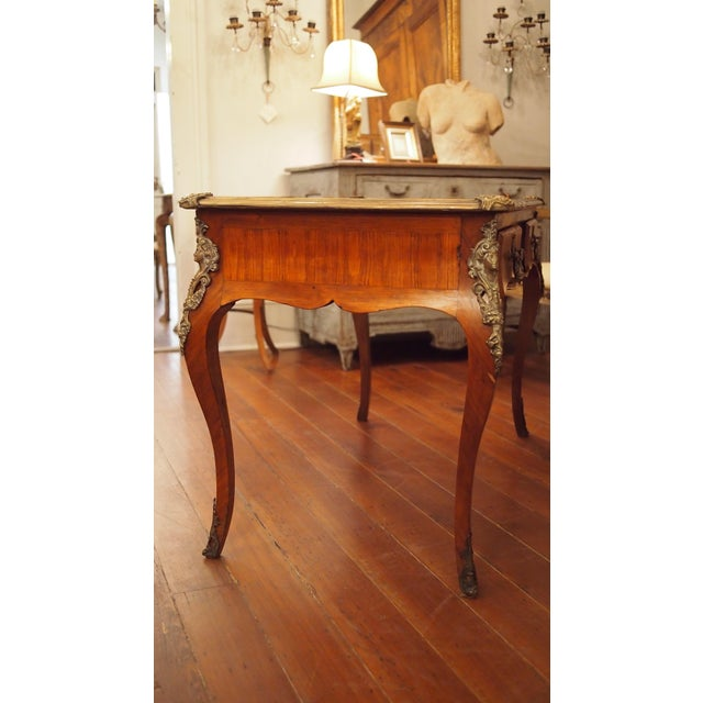 Brown Regence Style Writing Table For Sale - Image 8 of 9