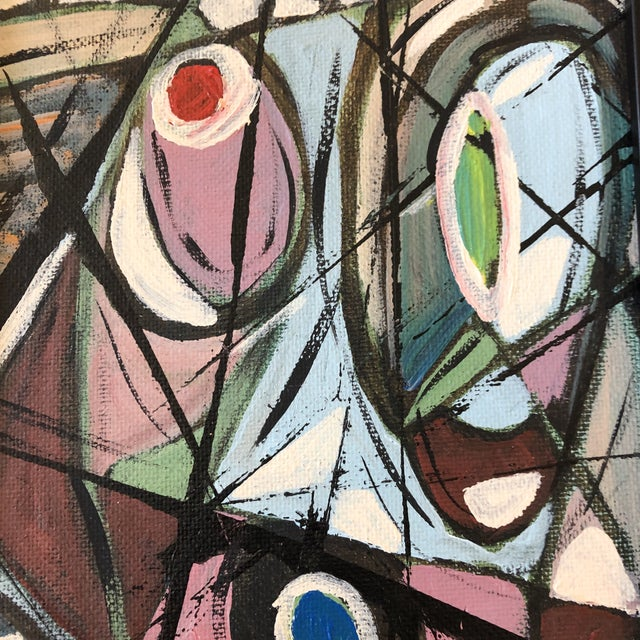 """Contemporary Original Contemporary Stephen Heigh Abstract Painting """"Table Is Set"""" For Sale - Image 3 of 5"""