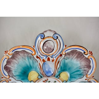St. Clément French Faïence Aqua Floral Oyster Plate Preview