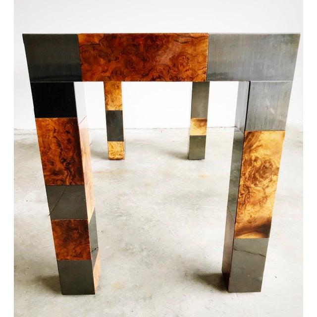 "Paul Evans Signed Original ""Cityscape"" Desk in Burl Walnut & Chrome For Sale In Chicago - Image 6 of 11"