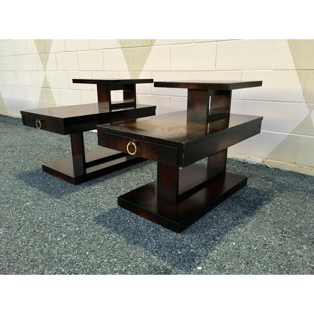 1960s Mid Century Modern Brutalist Lane Side Tables - a Pair For Sale - Image 12 of 12