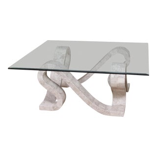 Contemporary Ribbon Square Tessellated Cantor Stone Coffee Table