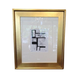 Original Lino Cut Modern Abstract Artwork For Sale