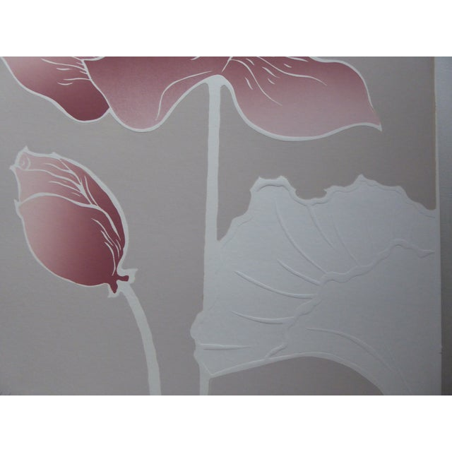 1980s Graphic Waterlily with Shell Serigraph II For Sale - Image 4 of 7