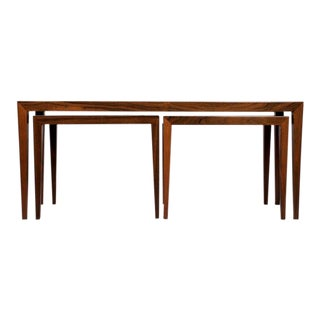 Severin Hansen for Haslev Rosewood Nesting Tables For Sale