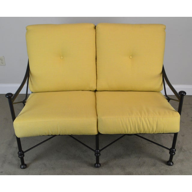 Neoclassical Giacometti Style Patio Love Seat by Winston For Sale - Image 3 of 13
