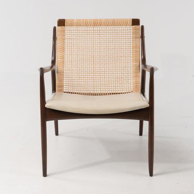 Metal Mid Century Modern Ib Kofod Larsen Selig Armchair For Sale - Image 7 of 13