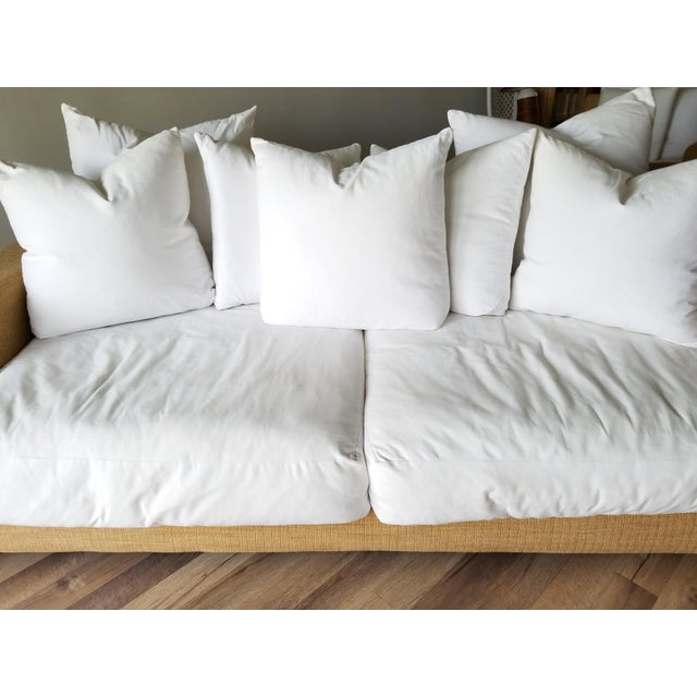Tan Resort Style Modern Oversized White & Sand Sofa and Chair - Set of 2 For Sale - Image 8 of 13