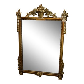 Antique Renaissance Style Burnished Gold Wall Mirror For Sale