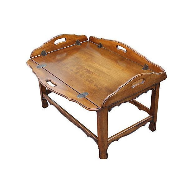 Coffee Table With Tray Top: Midcentury Modern Tray Top Coffee Table
