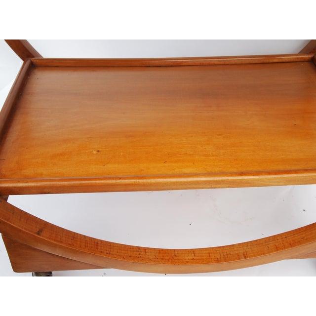 Wood Stunning English Art Deco Bar Cart For Sale - Image 7 of 8