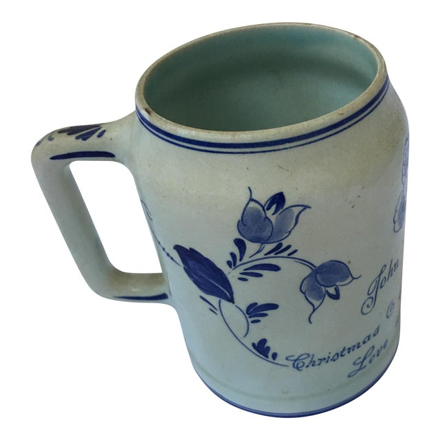 Hand Painted Personalized Delft Mug For Sale