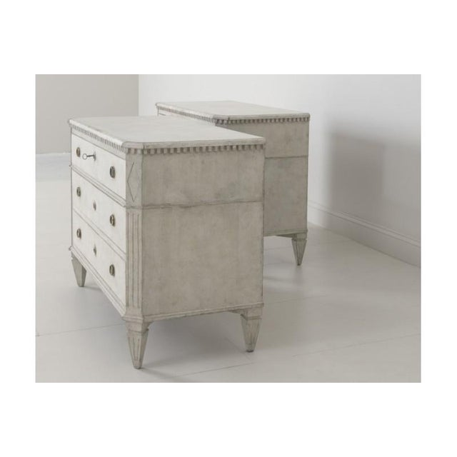 Gold 19th Century Swedish Gustavian Bedside Commodes - a Pair For Sale - Image 8 of 11