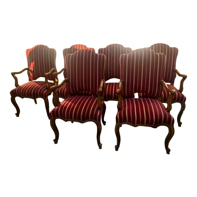Minton Slidell Regence French Regency Dining Chairs - Set of 6 For Sale