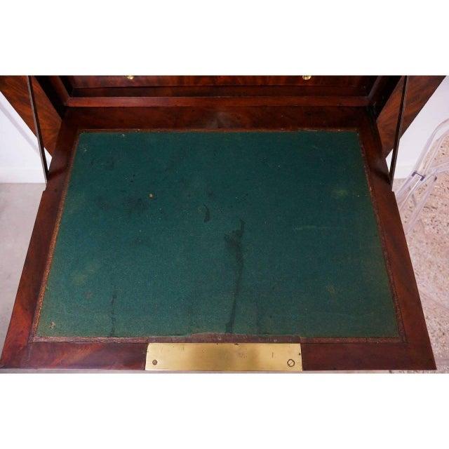 Antique 1852 French Empire Secretaire Abattant Secretary Desk For Sale - Image 4 of 12