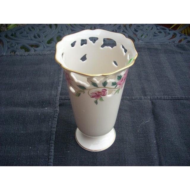 Lenox White Porcelain Vase - Image 3 of 5