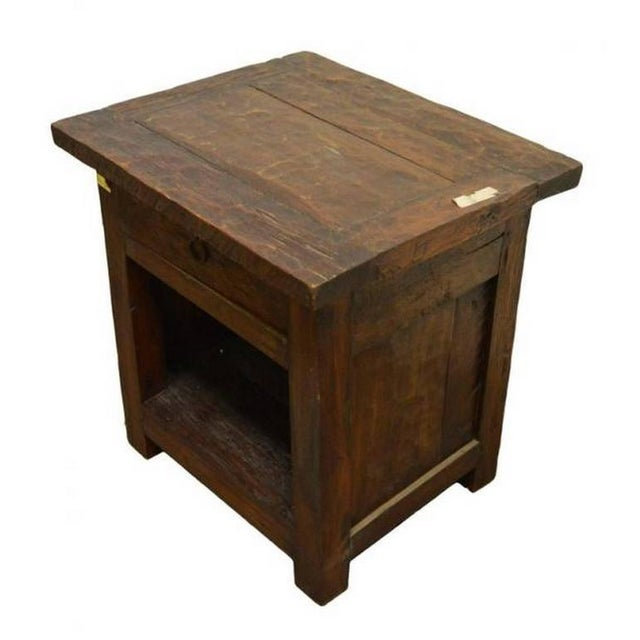 Luxury antique 19th century javanese rustic bedside table with a 19th century rustic bedside table cabinet with drawer and storage from java indonesia watchthetrailerfo