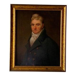 19th C. British School Portrait of a Gentleman in Cravat Painting For Sale